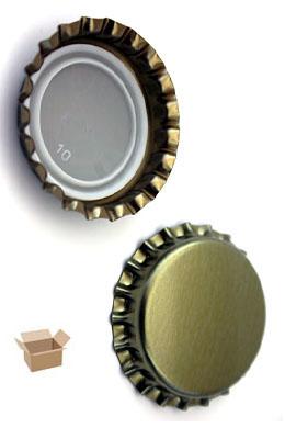 Kapsle złote - karton