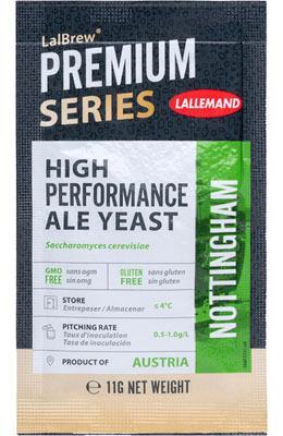 Lallemand LalBrew Nottingham High Performance Ale Y. 11 g ( Danstar Nottingham )